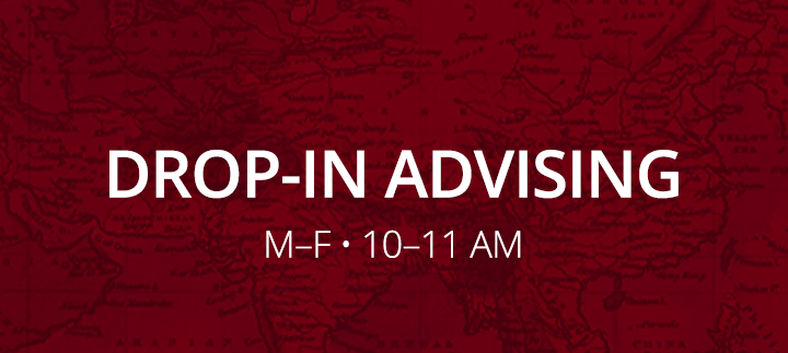 Click to attend Drop-in Advising - Monday-Friday 10-11AM