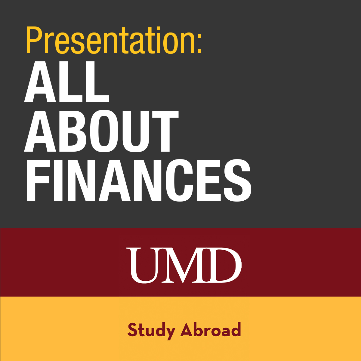 Presentation - All about finances